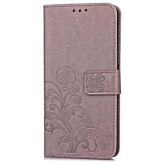 Lucky Four Leaf Leaves Magnetic Wallet Phone Cover