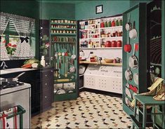 this is one awesome pantry - 1945 Armstrong Kitchen with Working Pantry