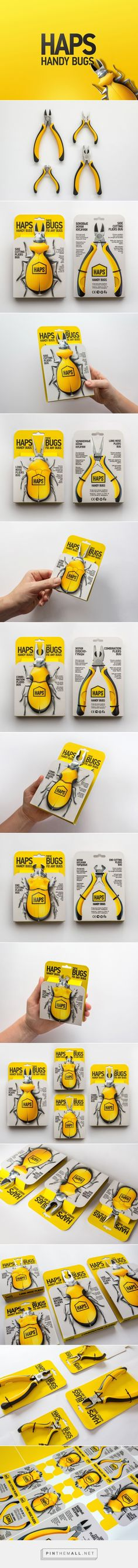 We love these bugs - Haps Handy Bugs Pliers packaging design concept by Igor Mitin - http://www.packagingoftheworld.com/2016/11/haps-handy-bugs-pliers.html
