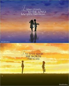 Anime : Your Lie In April Music Quotes Deep Quotes - Sprüche und Zitate - Musik April Quotes, New Quotes, True Quotes, Funny Quotes, Sad Anime Quotes, Manga Quotes, Music Quotes Deep, Deep Life Quotes, Deep Sad Quotes