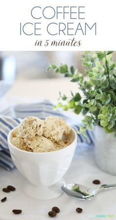 Five Minute Coffee Ice Cream Recipe from Life On Virginia Street