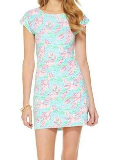 this lobster dress was made for me!!  Lilly Pulitzer Westerly Short Sleeve French Terry Dress in Lobstah Roll