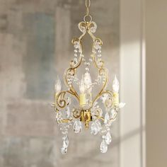 How to hang a plug in chandelier chandeliers spaces and lights antique gold with clear beads swag plug in chandelier aloadofball Gallery