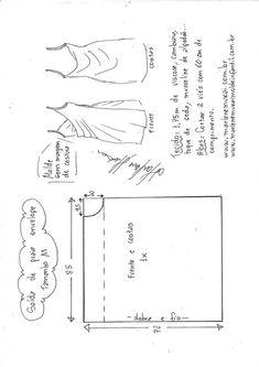 Saída de praia envelope - Learn Tutorial and Ideas Dress Sewing Patterns, Clothing Patterns, Skirt Patterns, Fashion Sewing, Diy Fashion, Sewing Clothes, Diy Clothes, Sewing Hacks, Sewing Projects