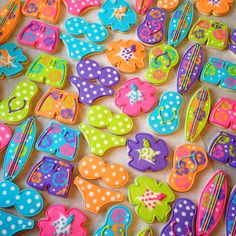 awesome beach party cookies