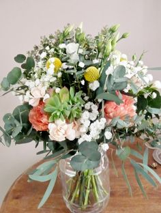 Bouquet de mariée champêtre chic #gypsophilecraspedia