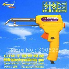 (26.55$)  Know more - http://aizlz.worlditems.win/all/product.php?id=555806022 - EU plug. 220V/60Hz. 60W soldering gun+Tin wire stent +Tin wirediameter 1.0mm, 1pcs/lot