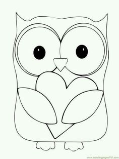 Owl Coloring Pages Print Free Printable Cute Owl Coloring Pages - Owl-coloring-pages-printable