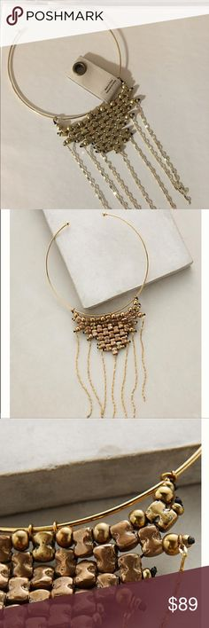 "Anthropolgie  Palmira Chocker Necklace . This necklace is stunning.  12"" length 4"" bib. Anthropologie Jewelry Necklaces"