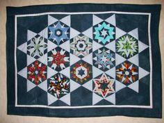 Ula´s Kristalle Wandbehang Paper Piecing