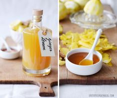 My natural wonder weapon for the nasty cold time: ginger and lemon syrup, simply homemade (without Thermomix and without juicer) - sirup - Lemon Syrup, Honey Syrup, Budget Freezer Meals, Frugal Meals, Budget Meal Planning, Cooking On A Budget, Clean Eating Dinner, Clean Eating Snacks, Juicer Recipes
