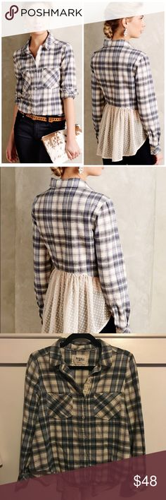 Holding Horses button down flannel Gently used. Size small Anthropologie Tops Button Down Shirts