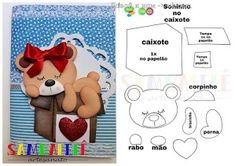 Felt Animal Patterns, Stuffed Animal Patterns, Doll Patterns, Foam Crafts, Diy And Crafts, Paper Crafts, Pencil Organizer, Felt Pictures, Soft Dolls
