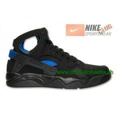 pretty nice 553d1 782ce Nike Air Flight Huarache Chaussures de Basketball Pas Cher Pour Homme  Noir Bleu 705005-