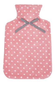 Saco de água quente cor-de-rosa bolas