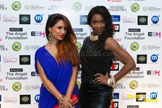 Singer & Actress Preeya Kalidas with another guest at India's leading fashion designer Manish Malhotra  UK catwalk debut at a Gala Fundraiser in aid of The Angeli Foundation, a charity that works to empower the Girl Child in India, at the Grosvenor House Hotel on Saturday 23rd February 2013: http://www.punjab2000.com/index.php?option=com_content=view=3743=2