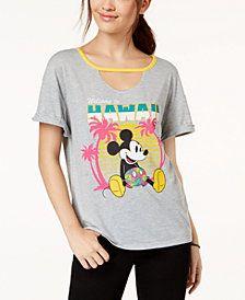 71efacf13246 Hybrid Juniors  Disney Mickey Mouse Hawaii Graphic T-Shirt Junior Tops