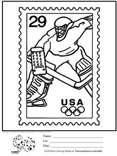 Hockey Coloring Pages For Kids #5631 | Pics to Color