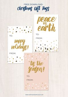 Free Printable Holiday Tags via Happy Hands Project Free Printable Gift Tags, Free Printables, Typography Letters, Lettering, Pen Quotes, Peace On Earth, Christmas Gift Tags, Modern Calligraphy, Christmas Printables