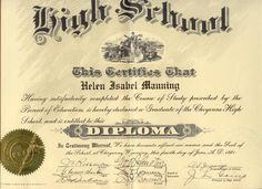 Vital records and other important documents in the life of Helen Isabel Manning Engstrom - Birth Certificate Form, Certificate Templates, Lease Agreement Free Printable, Funny Certificates, Visa Card Numbers, Vital Records, High School Diploma, Important Documents, Free Printables