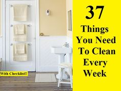 37 Things You Need To Clean Every Week Life Hacks, Life Tips, Organization, Organizing, Helpful Hints, Improve Yourself, Projects To Try, Cleaning, Storage