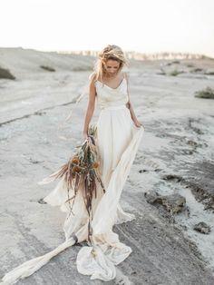 Desert bridal portrait