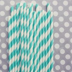 stripey straws in aqua, and maybe grey?