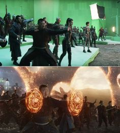 "Here's what the epic emergence of all the Avengers was like on set. 25 ""Avengers: Endgame"" Behind-The-Scenes Photos That'll Change The Way You See The Movie Marvel Actors, Marvel Memes, Captain Marvel, Marvel Avengers, Captain America, Avengers Cast, Female Avengers, Avengers Team, Avengers Poster"