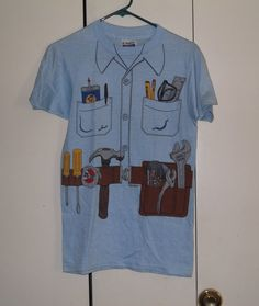 Vintage 1981 mechanic tshirt 50/50 small by thriftyoutfitters, $10.00