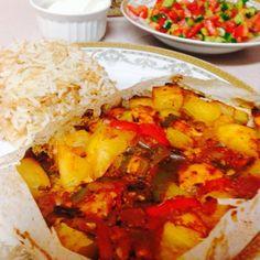 Tavuklu Kağıt Kebabı – Nefis Yemek Tarifleri Ratatouille, Salsa, Mexican, Ethnic Recipes, Food, Essen, Salsa Music, Meals, Yemek