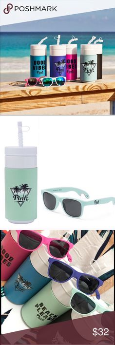 """🍍BOTTLE OPENER SUNNIES SUNNIES ONLY! BNIB (brand new in box) ⛔️I will ignore any """"lowest?"""" comments ⛔️PRICE FIRM ⛔️NO HOLDS ⛔️NO TRADE ⛔️SMART REMARKS WILL GET YOURSELF BLOCKED IN MY CLOSET ✅$10 VINTED PINK Victoria's Secret Accessories Glasses"""