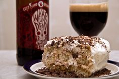 Beer-infused tiramisu, with Left Hands Wake Up Dead, a dessert for non-dessert lovers