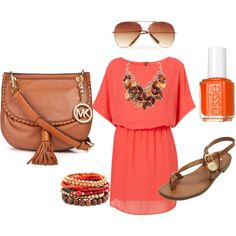 love peach color dress, created by jany2279