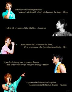 SHINee motivational words