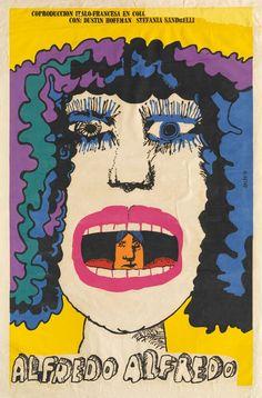 ALFREDO ALFREDO, Eduardo Muñoz Bachs, 1973 manifesto/poster - serigrafia/silk screen ALFREDO ALFREDO regia di/directed by Pietro Germi Italia-Francia/Italy-France, 1972 Coll. Bardellotto Centro Studi Cartel Cubano