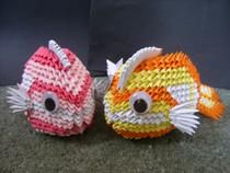 2x stunning 3D origami koifish