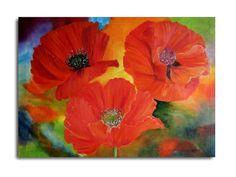 Blumen MalereiOriginal ÖlgemäldeKlatschmohn von oilpaintingflowers