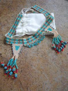 Native American Inspired Choker by BellaDonnaBead on Etsy,