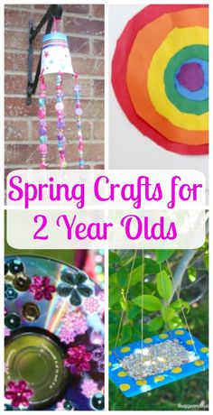 These are the best spring crafts for toddlers! Two year olds sure love to create and explore art.