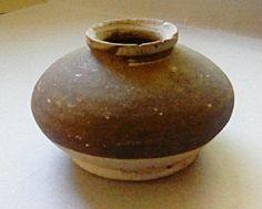 Green Glazed Stoneware Pottery Jar Kingdom of by ClioAncientArt