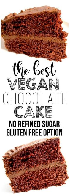 The best & easiest ONE BOWL Vegan Chocolate Cake! Gluten-free optional with no refined sugar.