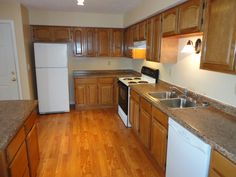 kitchens with white appliances and oak cabinets oak from Kitchen And Appliances