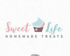 Bakery Logo Design. Bakery Cupcake Logo. Cupcake Handmade Logo. Sweet Bake Logo. Homemade Treats Logo. Handmade Bakery Premade Logo. Baker
