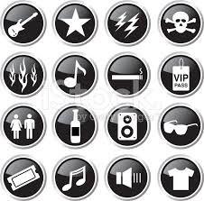 Resultado de imagen para simbolos de rock