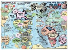 Comic Book Cartography - A Collection of Maps and Diagrams