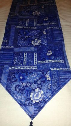 Beautiful Flower Table Runner 54x14 Reversible and Padded