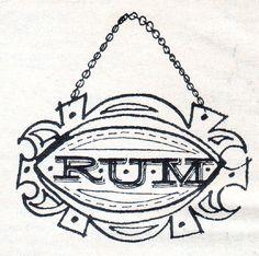 Vintage Calvert Rum label