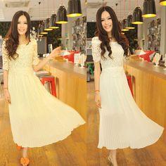 Vintage long white dress