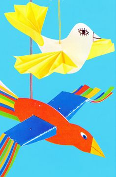 Groep Thema vogels in de .nl - Vogels in de lucht Thema lente kleuters Paper Crafts For Kids, Diy For Kids, School Projects, Projects To Try, Mobiles, Puppet Crafts, Winter Festival, Paper Birds, Bird Crafts