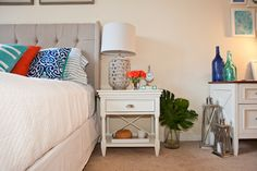 A nautical bedroom / office combo designed with Hayneedle |  Meyers Styles